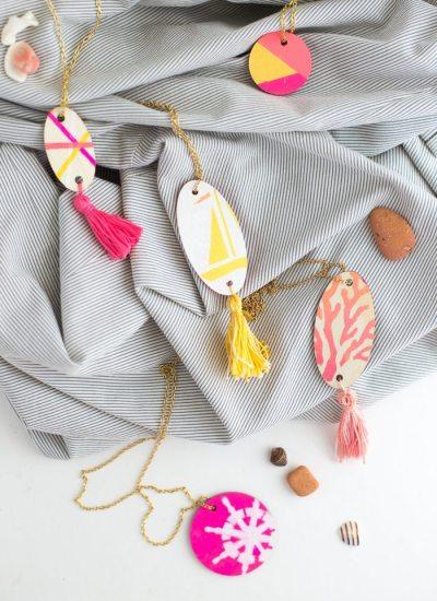 Wood Pendant Necklace DIY
