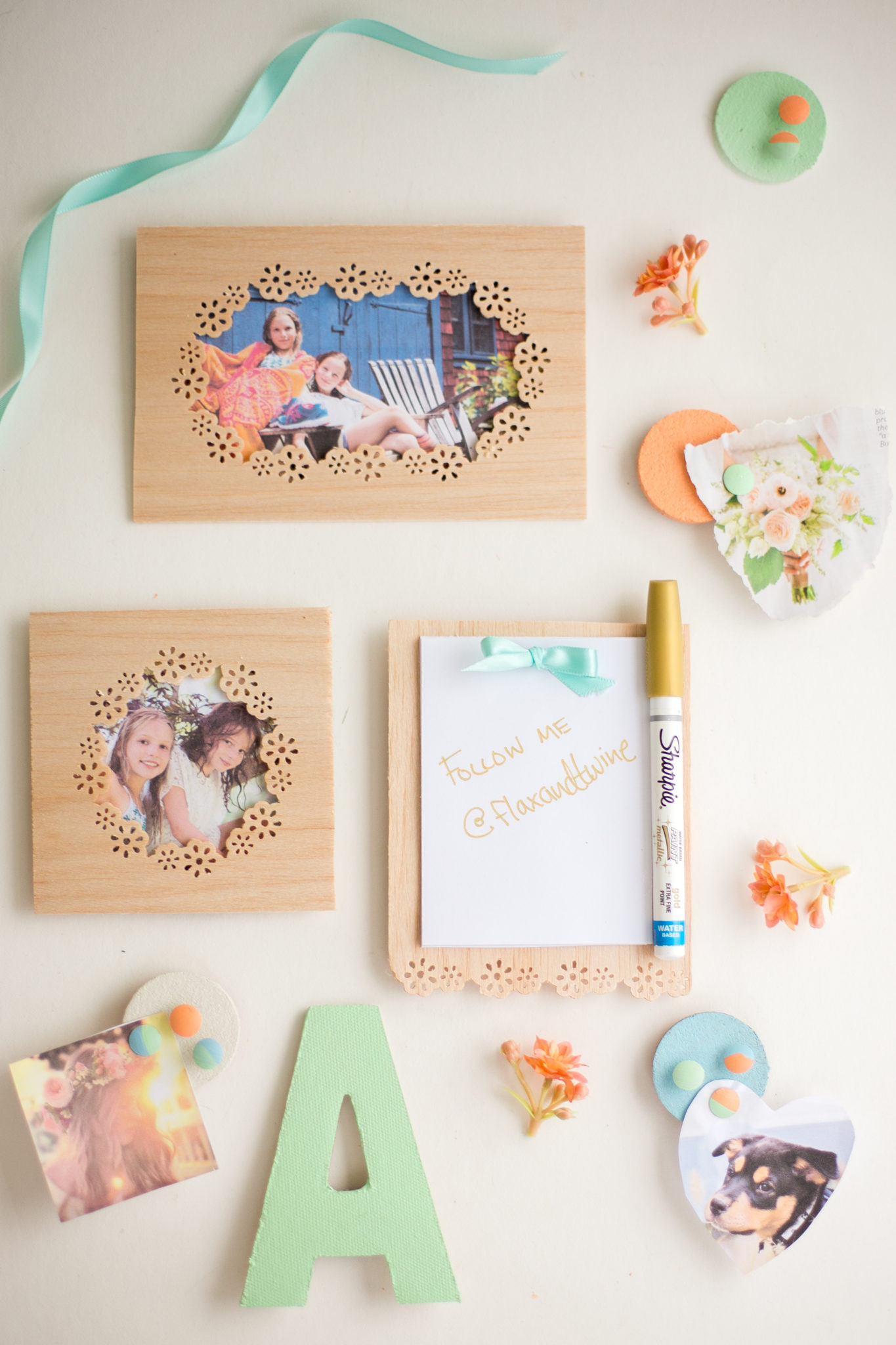 DIY Locker Decorations: Wooden Frames + Notepad - Flax & Twine