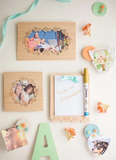 DIY Locker Decorations: Wooden Frames + Notepad
