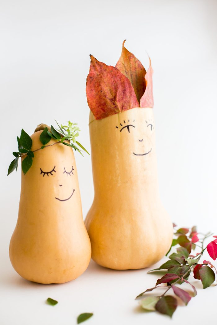 Thanksgiving butternut squash decoration
