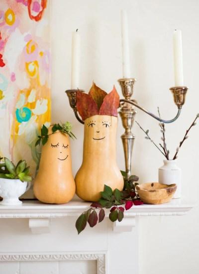 DIY Butternut Squash Decorations