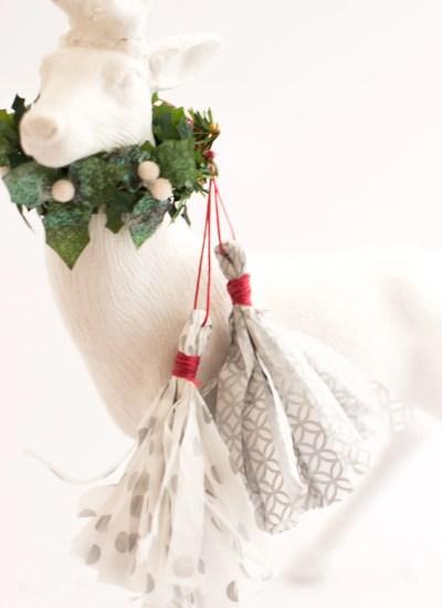 DIY Tissue Paper Fringe Tassels