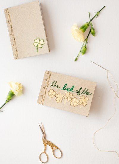 Book Binding Tutorial with Embroidered Cover