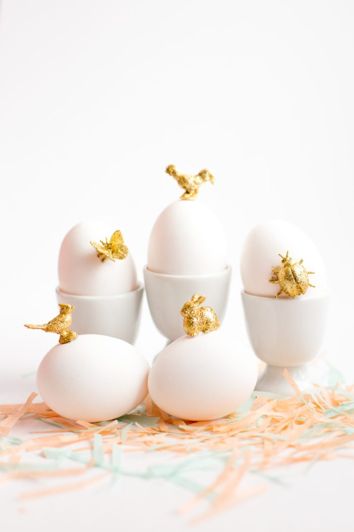 gold animal easter egg diy-7240
