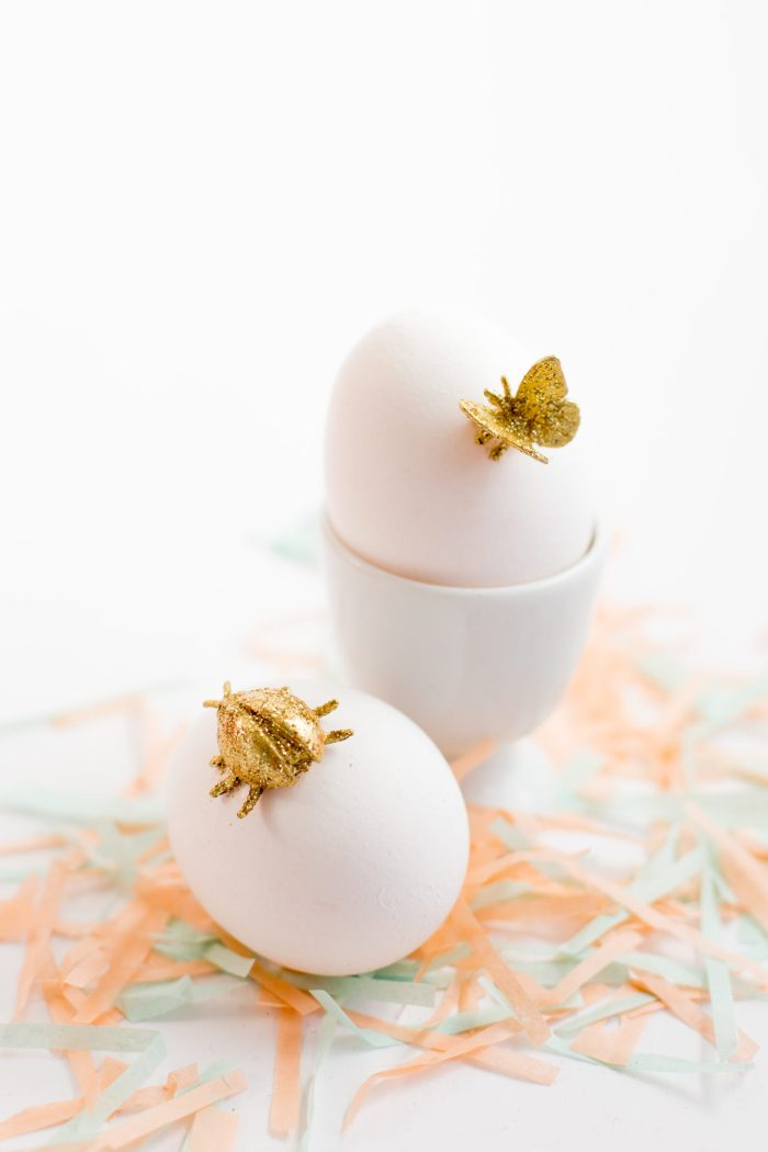 gold animal easter egg diy-7266