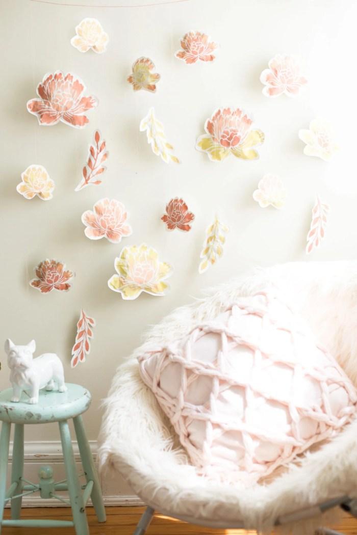 DIY Paper Flower Wall