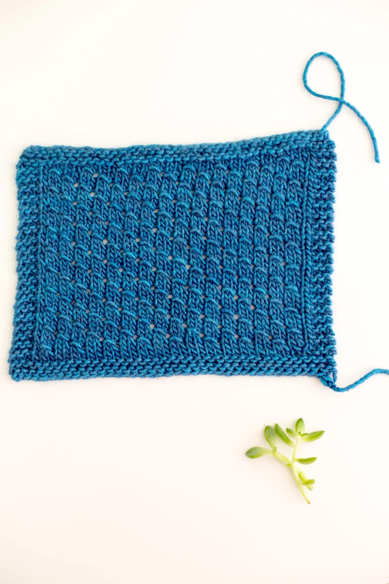 Knitting Stitch How To Lacy Diagonal Scallop Stitch Flax Twine