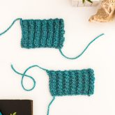 mock cable ribbing