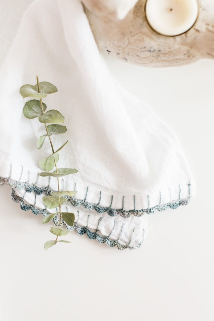 Easy To Follow Crochet Edged Dish Towel Tutorial Flax Twine