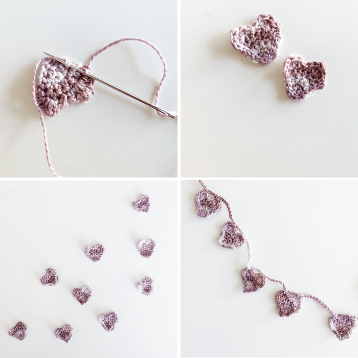 Crochet heart how to 5