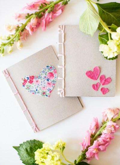 Heart Notebooks + Japanese Book Binding Tutorial