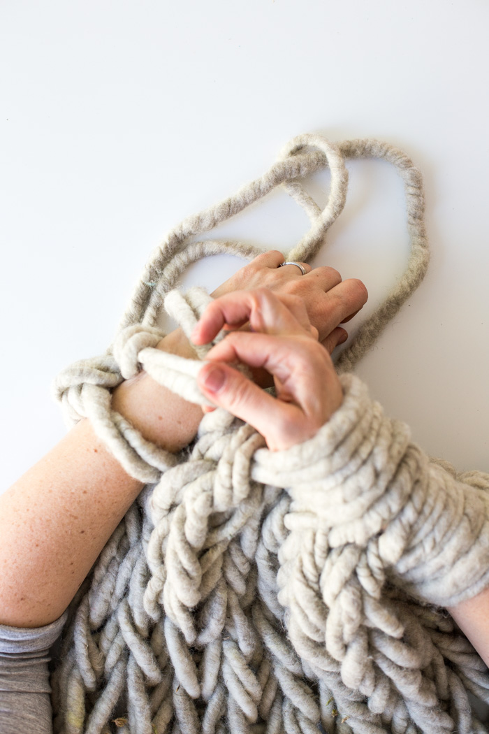 Making Arm Knitting Tighter-5907