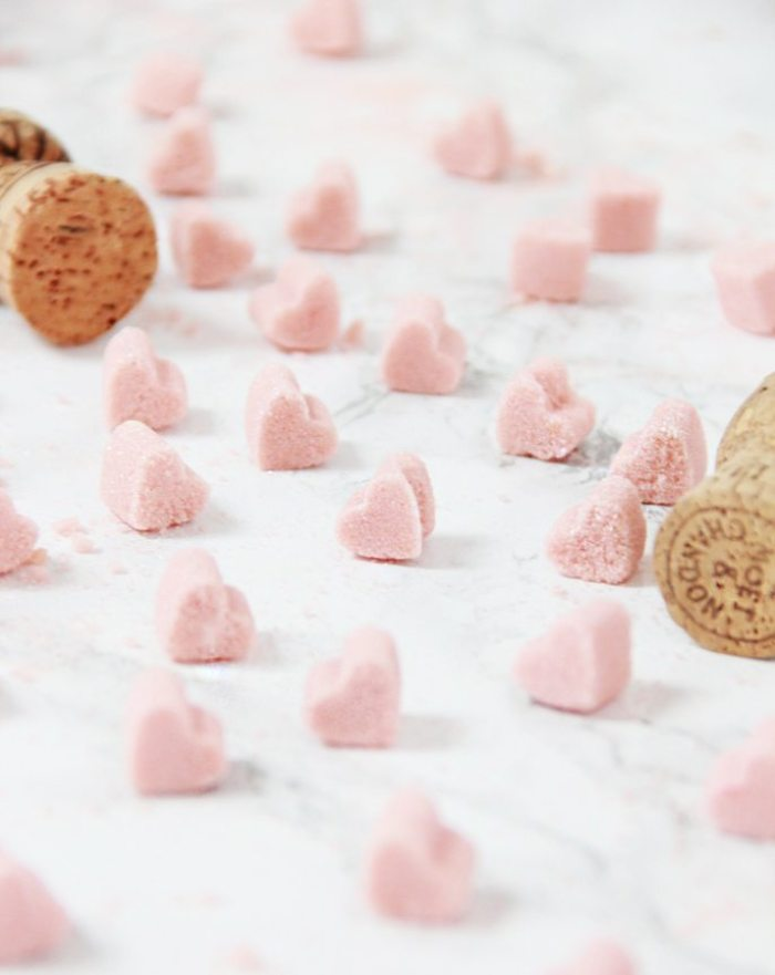 Heart Sugar Cubes - Easy last minute Valentine's Day DIY