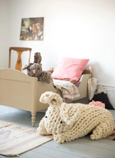 Giant Knit Bunny
