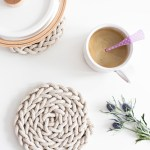 Diy Finger Knit Rope Trivet Tutorial Flax Twine