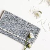 Marled Crochet Clutch Pattern by Anne Weil of Flax & Twine