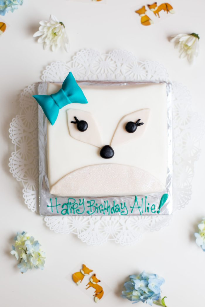 Artic Fox Cake, Pinata DIY and Party by Anne Weil of Flax & Twine