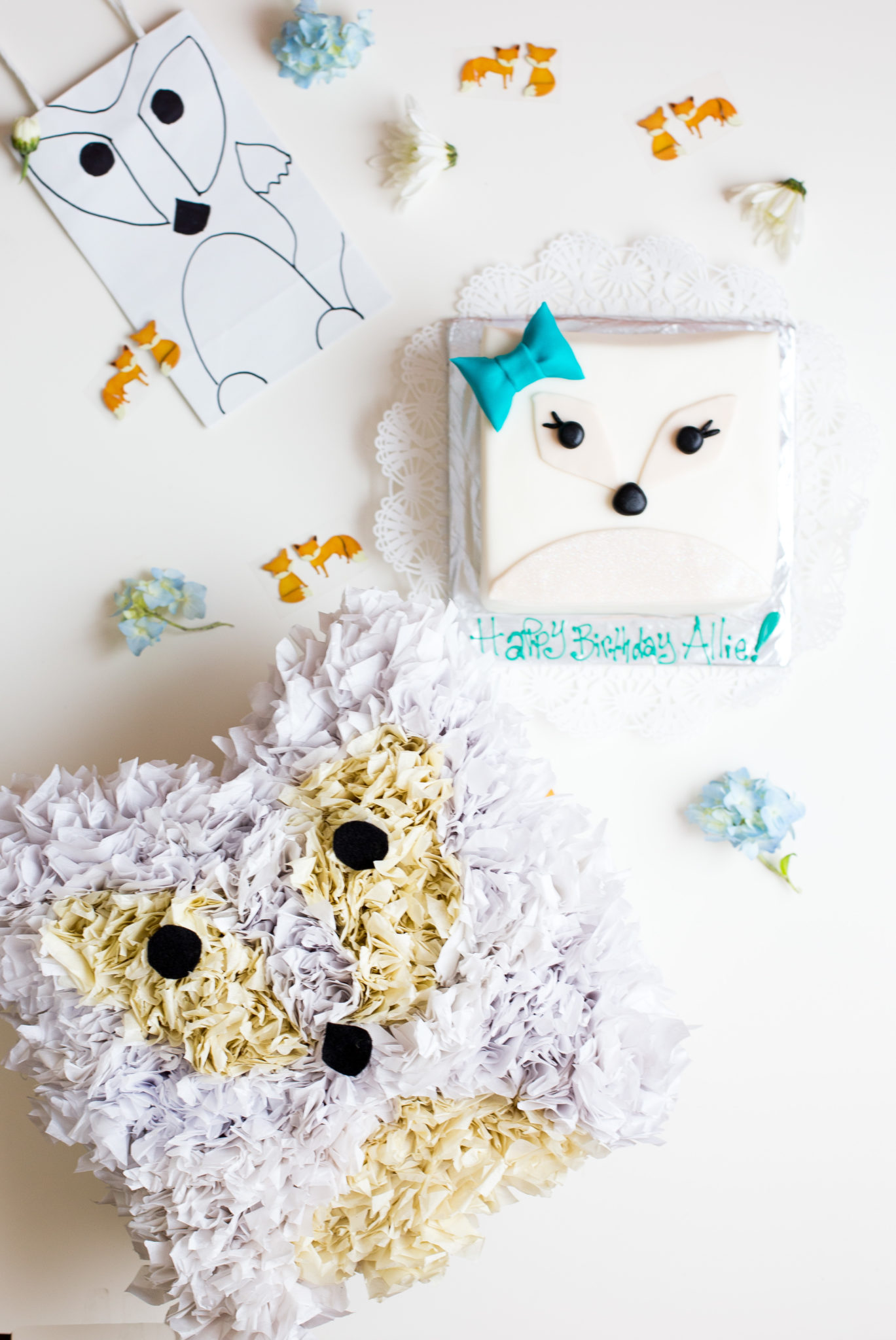 easy to make arctic fox pinata diy and party flax twine
