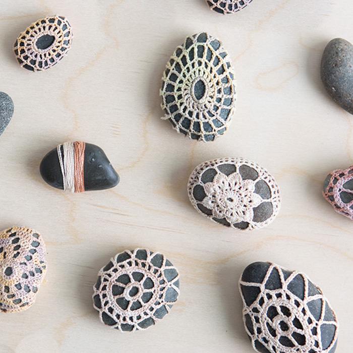 How To Video for Crochet Stones by Anne Weil of Flax & Twine for Creativebug