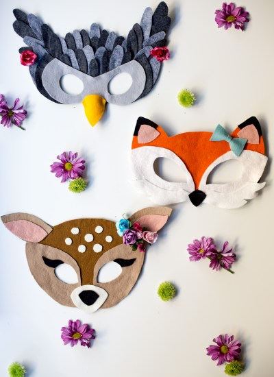 No-Sew Free Felt Animal Mask Patterns