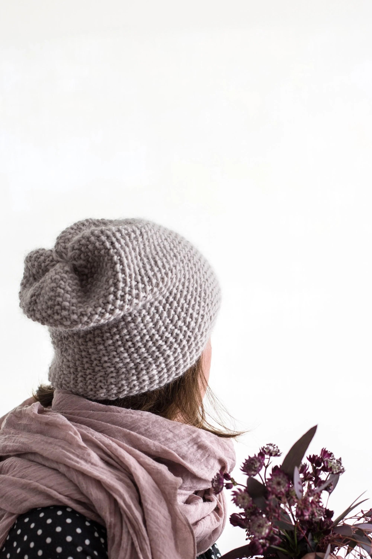Making WAK Seed Stitch Knit Beanie Hat + Discount Code - Flax & Twine