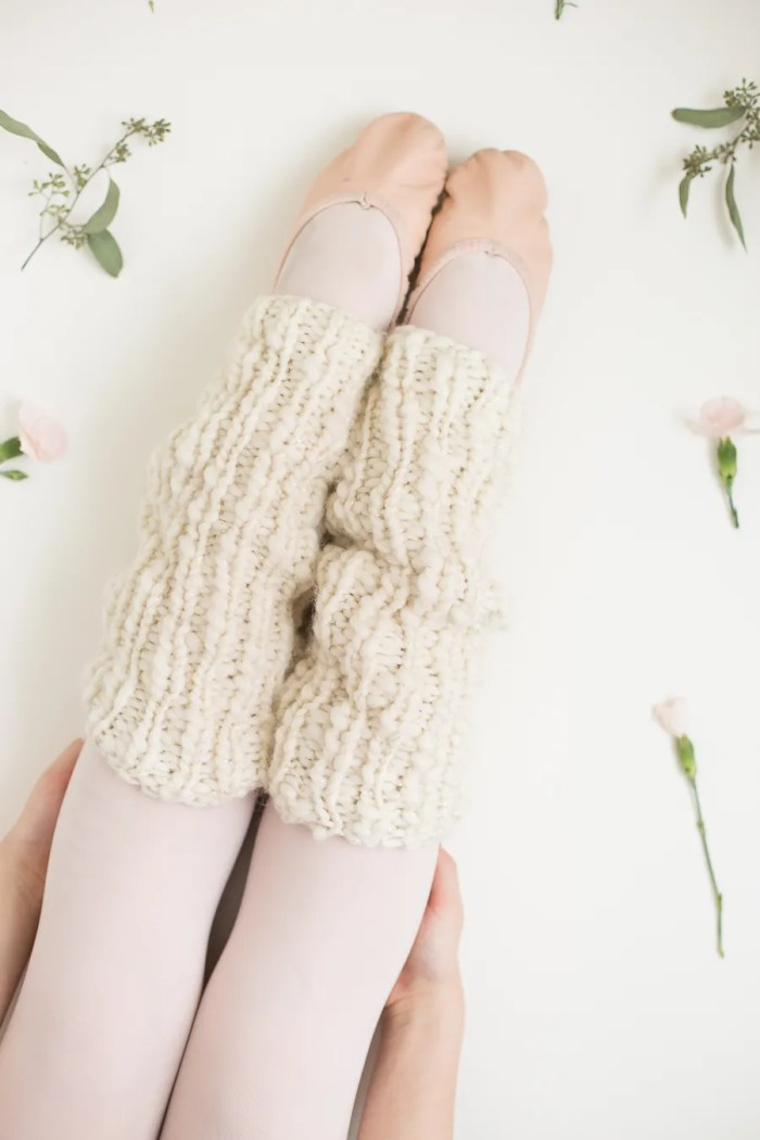 Chunky Knit Leg Warmers Pattern by Anne Weil of Flax & Twine
