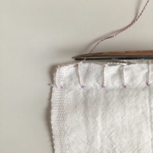 How to do the blanket stitch for a crochet edge.