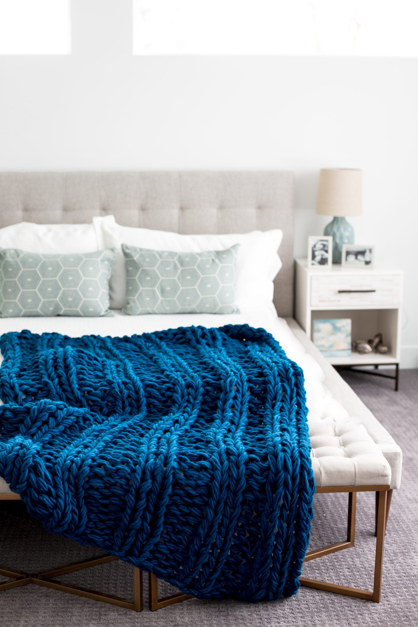 Arm Knit Ribbed Blanket 1610