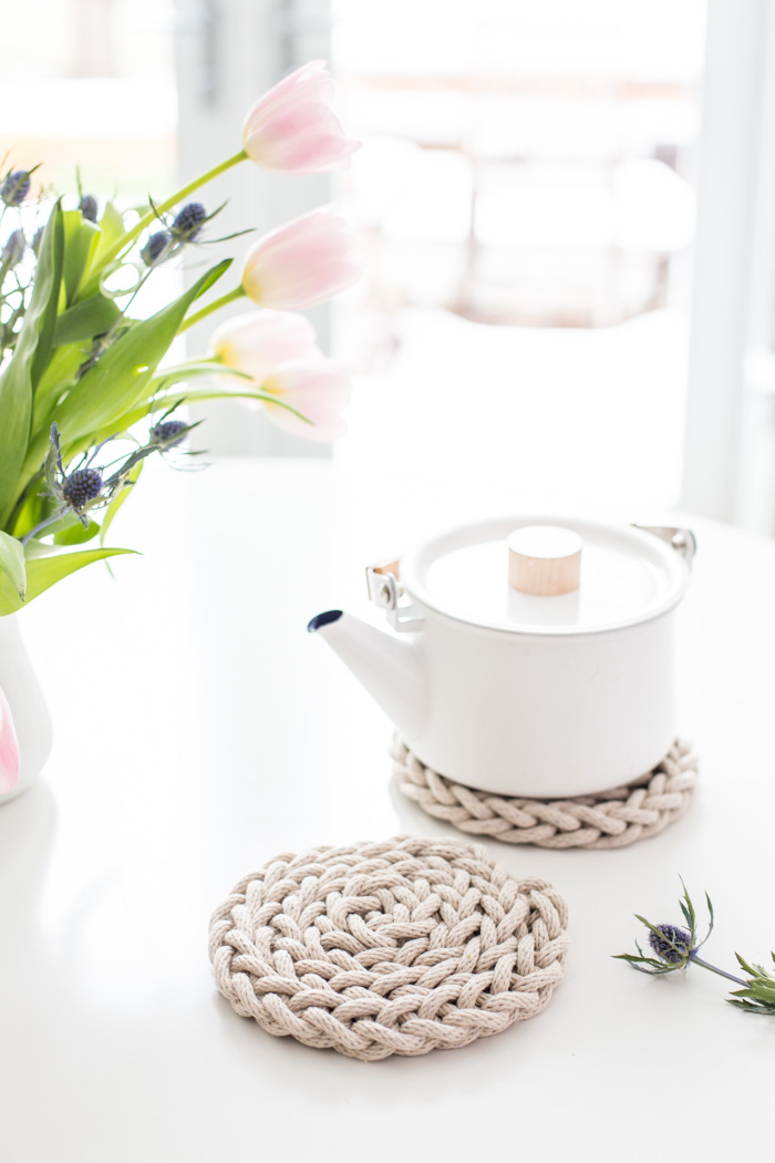 Finger Knit Trivet Kits - everything you need to make your own!