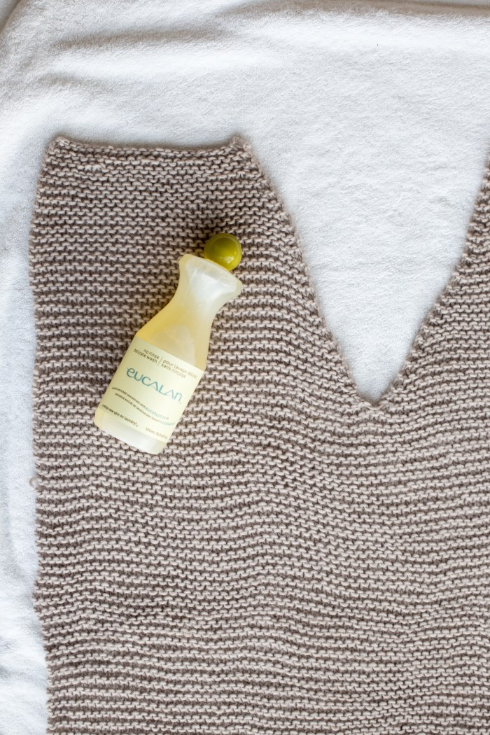 How to Block A Sweater with Euacalan Delicate Wash