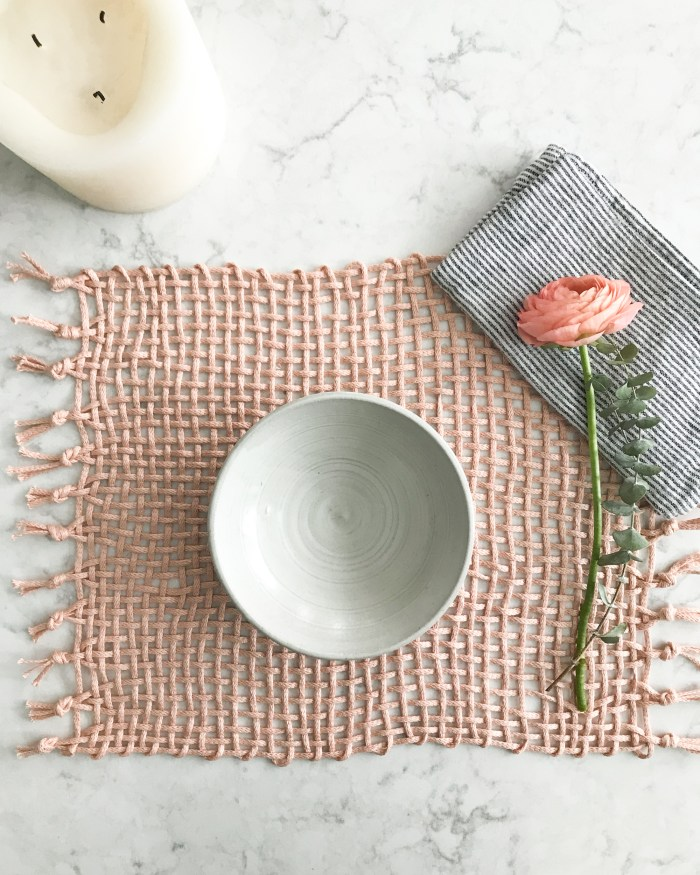 No Loom Open Weave Placemats