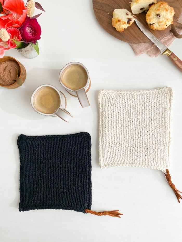 World's Best Knit Mitt Potholder Pattern and Video!