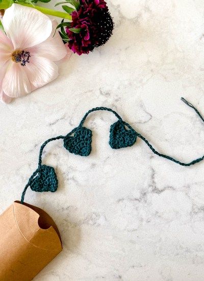 Crochet Mini-Heart Garland Kit and Pattern