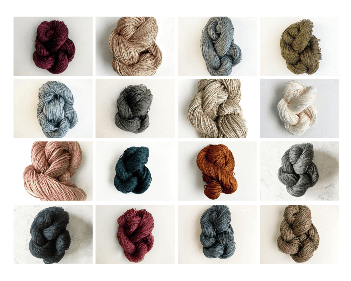 Linen Yarn Colors
