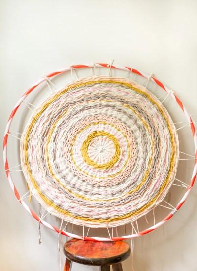 Weave a Hula Hoop Rug!
