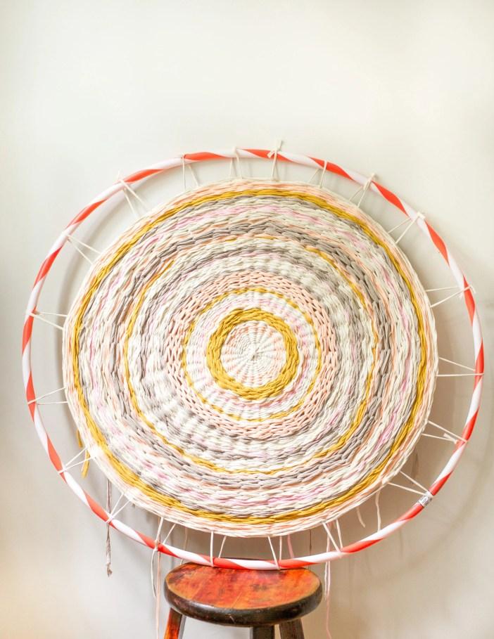 Weave a Hula Hoop Rug