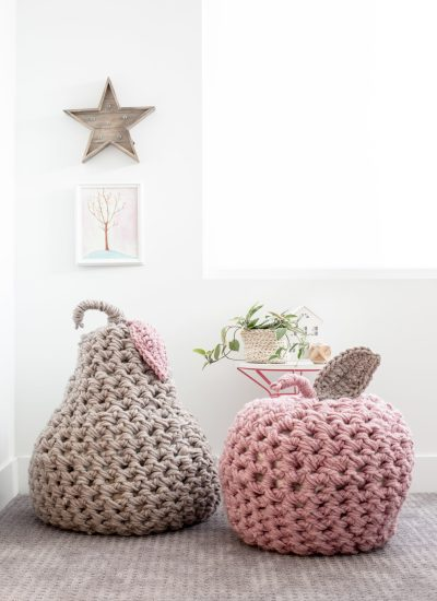 Giant Apple and Pear Pouf