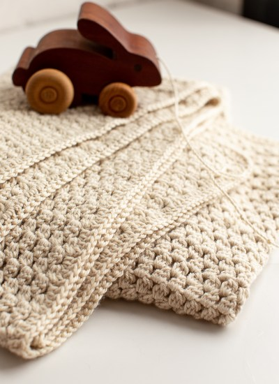 Plush Free Crochet Baby Blanket Pattern