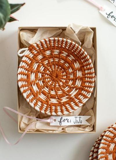 Coiled Woven Jewelry Dishes DIY Kit