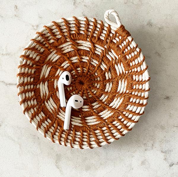 Coiled Woven Jewelry Dish Kit DIY