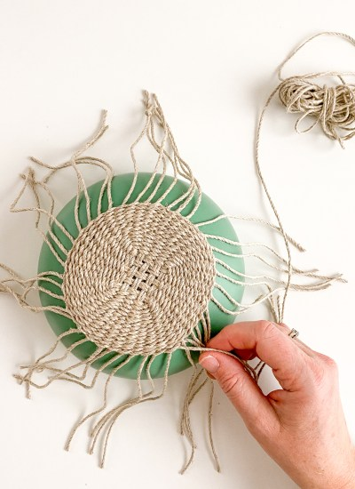 Beginner Basket Weaving Kit – Twined Linen Dish