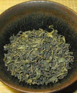 Dry leaves of Nokcha Organic Traditional Green Tea