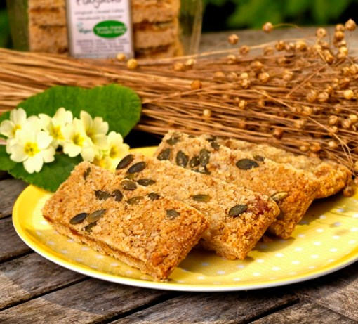 Luxury Apricot, Orange and Pumpkin Seed Linseed Flaxjacks Gluten-free Flapjacks