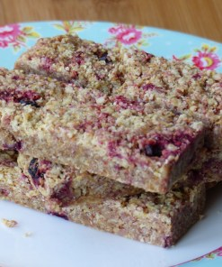 Gluten-free dairy-free mixed berry flaxjacks