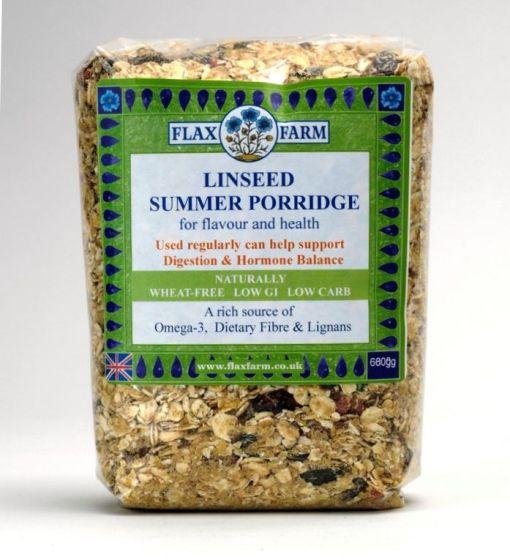 Summer linseeed porridge