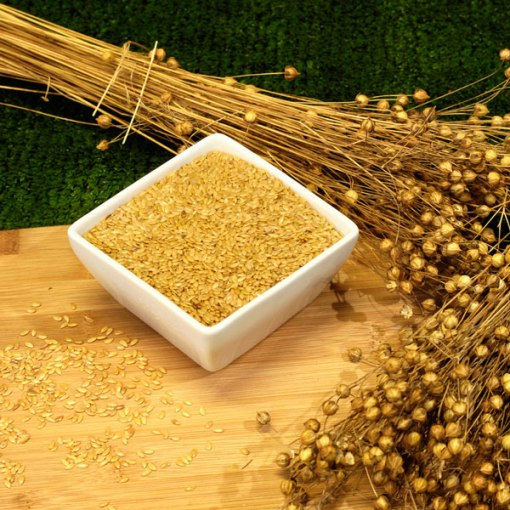 Whole-gold-linseed-and-plant