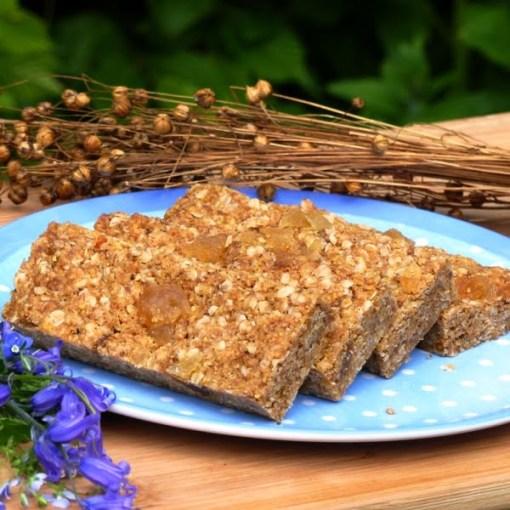 Triple Ginger Gluten-free linseed Flaxjacks Flapjacks