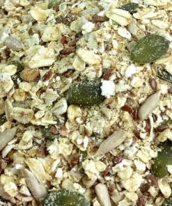Gluten-free Muesli base close up