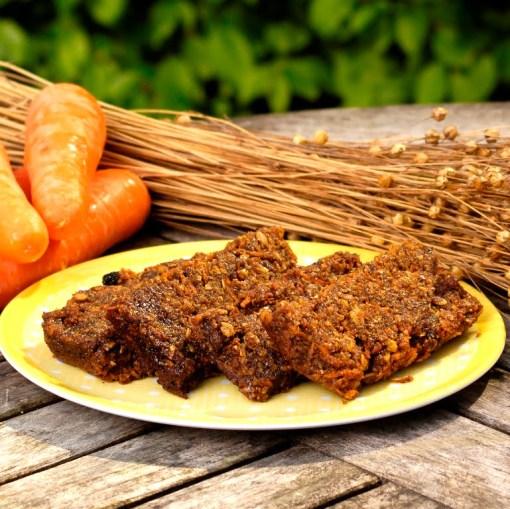 Flax Farm Gluten-free vegan Carrot Cake Flaxjacks linseed