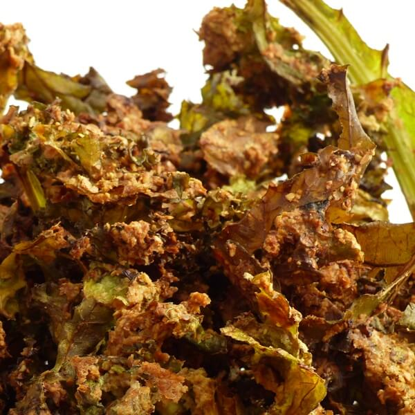 Kale and linseed chips